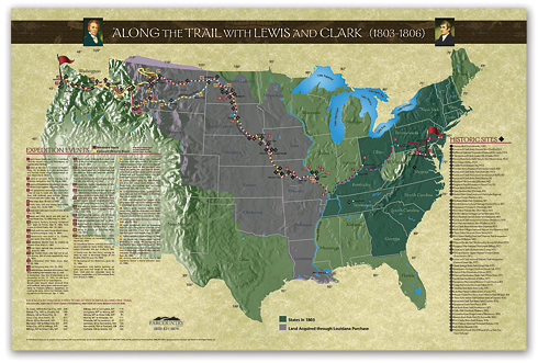 Along the Trail with Lewis and Clark... The Poster! align=