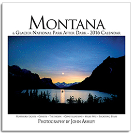 2016 Montana and Glacier National Park After Dark Wall Calendar align=