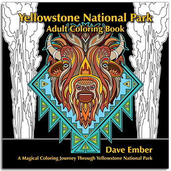 Yellowstone National Park Adult Coloring Book align=
