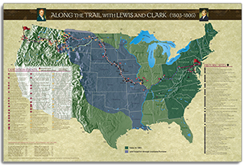 Along the Trail with Lewis & Clark Poster align=