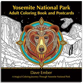 Yosemite National Park Adult Coloring Book A Magical Journey Through