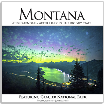 2018 Montana - After Dark in the Big Sky State Wall Calendar align=