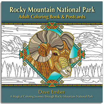 Rocky Mountain National Park Adult Coloring Book Postcards A Magical Journey Through