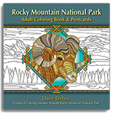 Rocky Mountain National Park Adult Coloring Book & Postcards align=