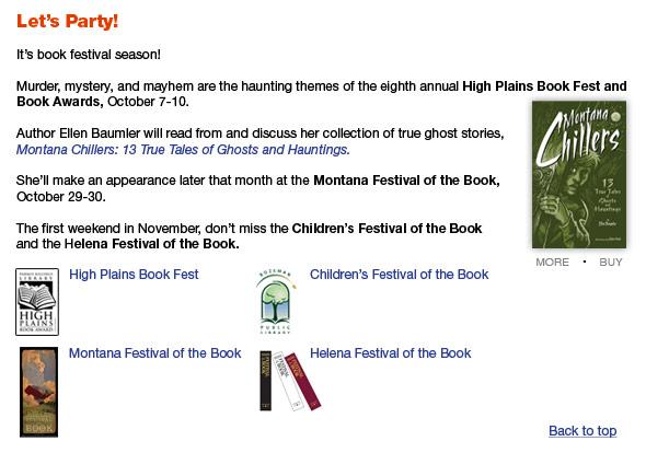 FCP-October Newsletter Book Fests